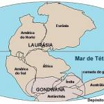 Mapa da Terra antes da deriva continental: Pangeia