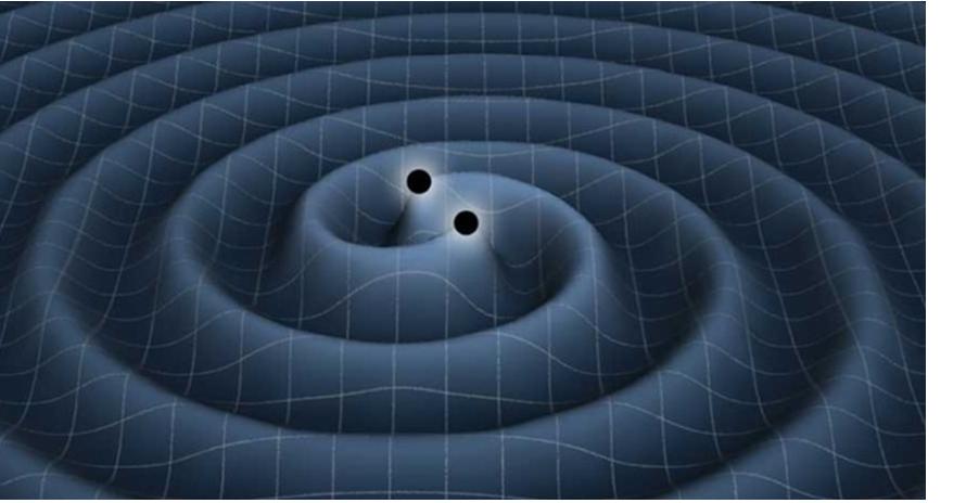 Buracos Negros Próximos da Colisão Produzindo Ondas Gravitacionais