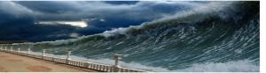 Onda Gigante - Tsunami. Forças da Natureza.