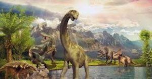 Dinossauro na Era Mesozoica